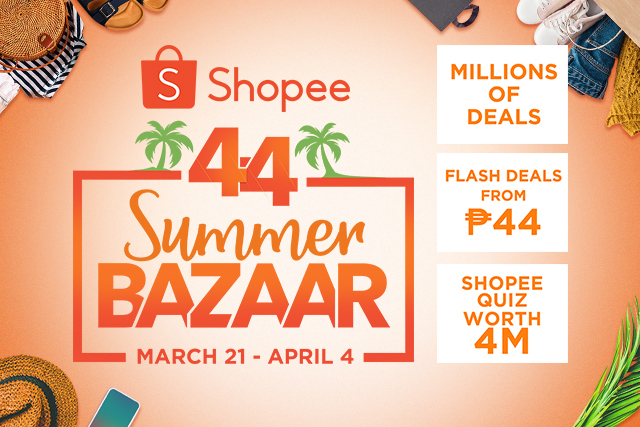 Shopee 4.4 Summer Bazaar April 2019