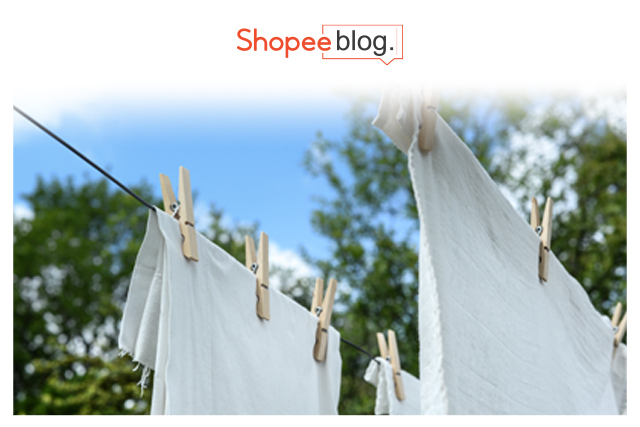 Laundry hanging on string