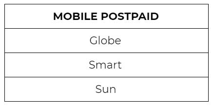 mobile bills payment