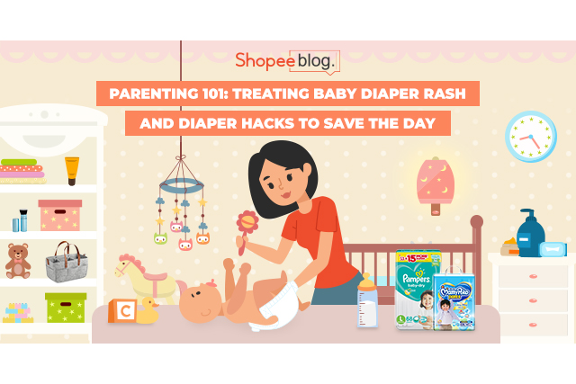 treating baby diaper rash and diaper hacks to save the day