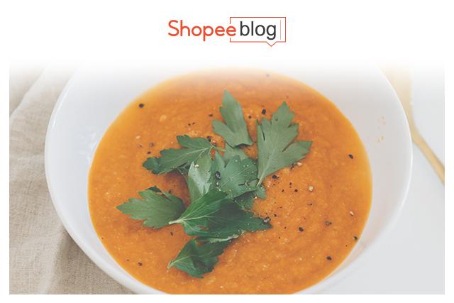 vegan carrot and coriander soup