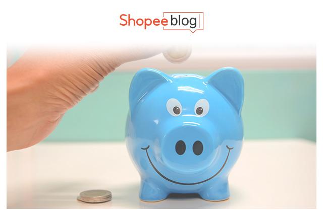 putting coins inside a piggy bank