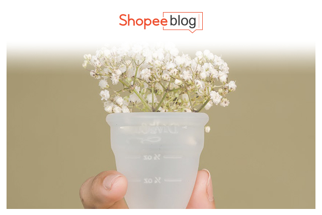 flowers in a menstrual cup
