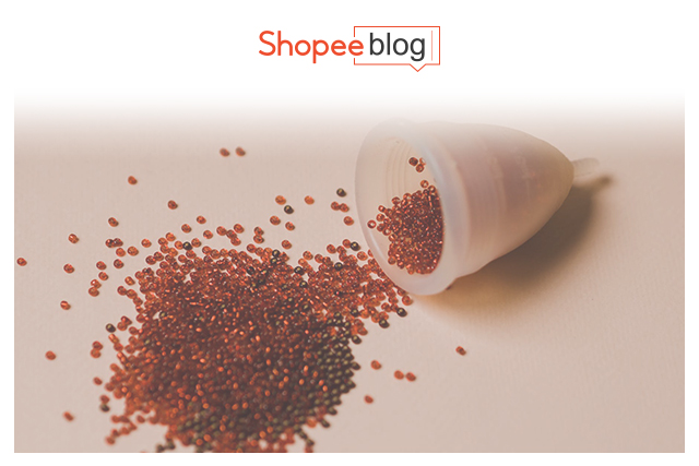 beads coming out of a menstrual cup