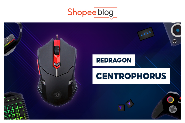 best gaming mouse - redragon centrophorus