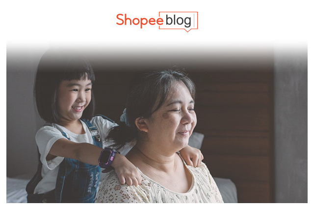 child giving a massage