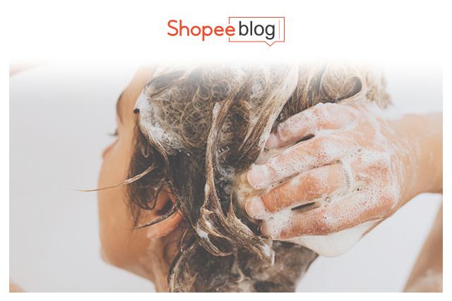 person washing scalp