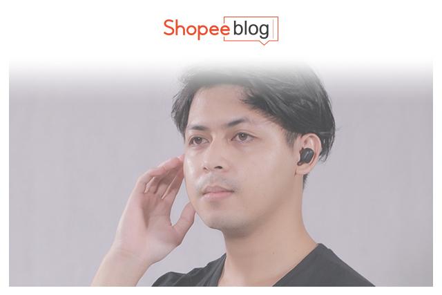 guy wearing wireless earphones