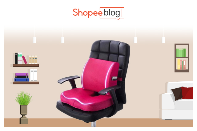 memory foam seat and and lumbar cushion