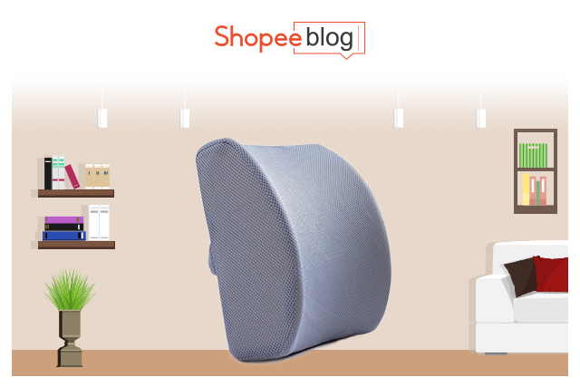lower back memory foam support pillow