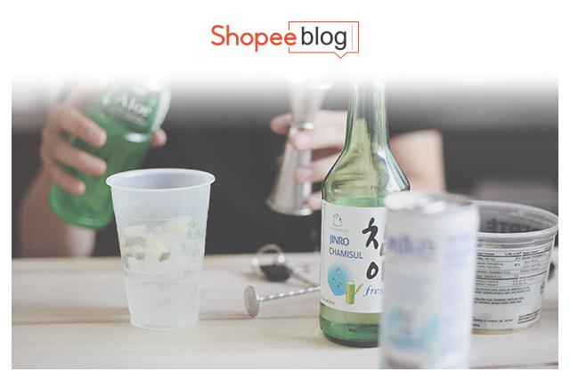 drinking fresh soju