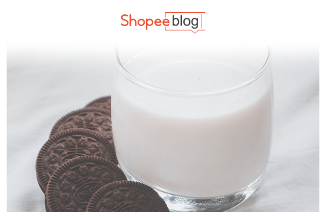 organic milk with chocolate cookies
