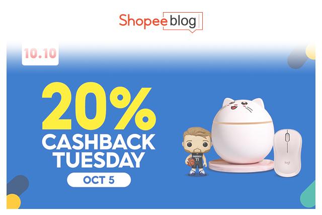 20% cashback tuesdays