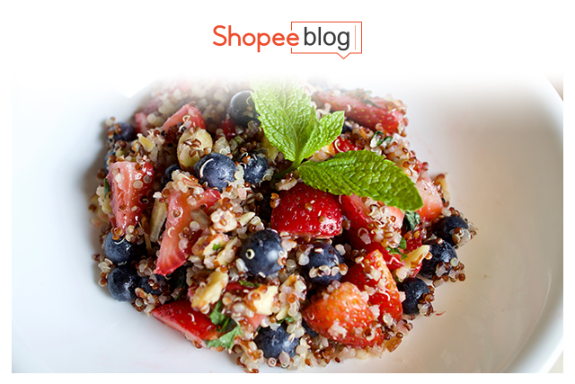 bowl of quinoa with fruits
