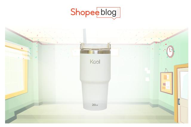 Kool tumbler with straw